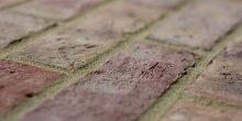 Dark Multi Handmade brick along the brick view
