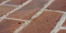 Light multi handmade brick, shot along the bricks to show texture