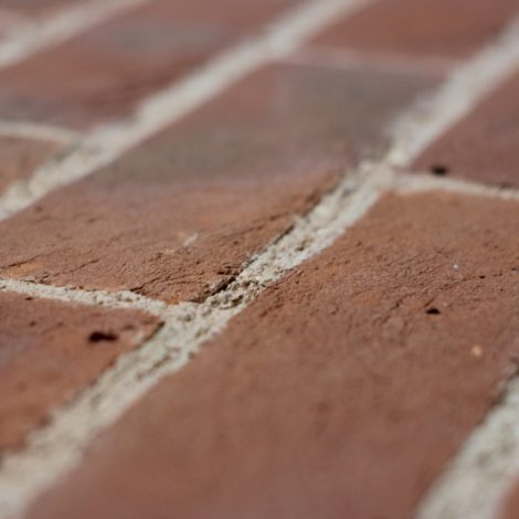 Light multi handmade brick, shot along the bricks to show texture