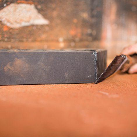 Finished bonded brick angle