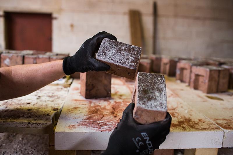 Glazed bricks by HG Matthews, made in the specialist brick services department