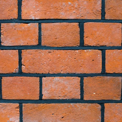 Victorian style woodfired brickwork with weather struck and cut joint - front view