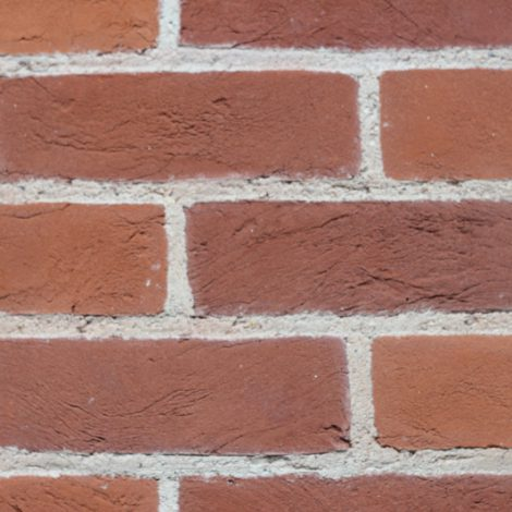 Chalfont Red Brick in a wall front on shot