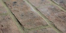 Grey Brown handmade brick, shot along the brick to show texture